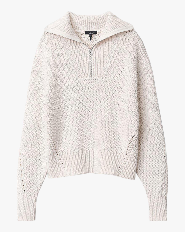 rag & bone Lena Half-Zip Pullover 0