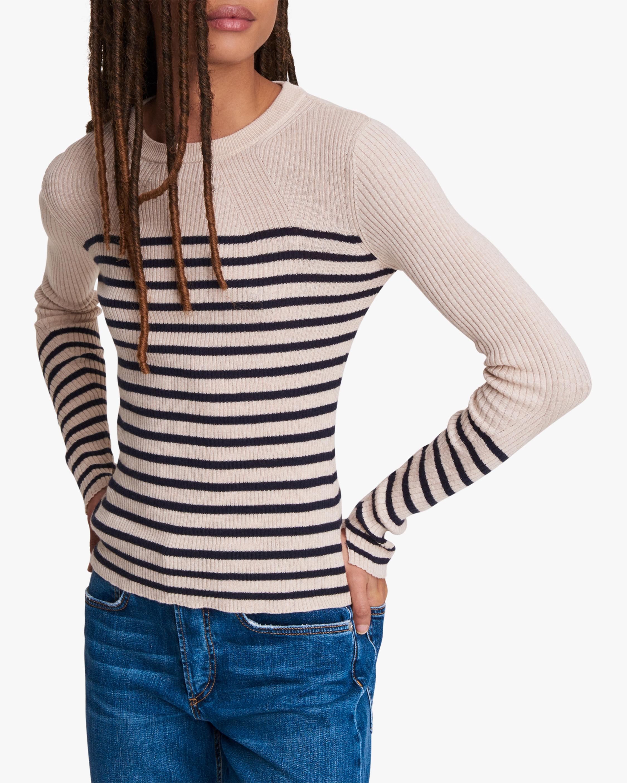 rag & bone Kate Striped Long-Sleeve Top 0