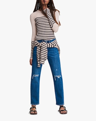 rag & bone Kate Striped Long-Sleeve Top 2