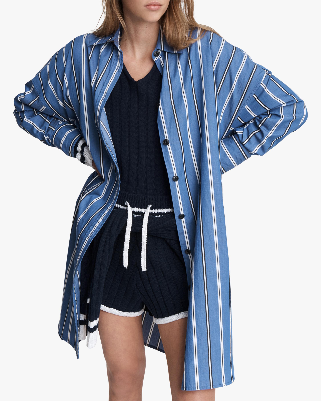 Sandra Striped Shirt Dress