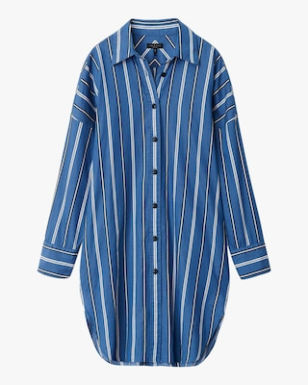 rag & bone Sandra Striped Shirt Dress 1