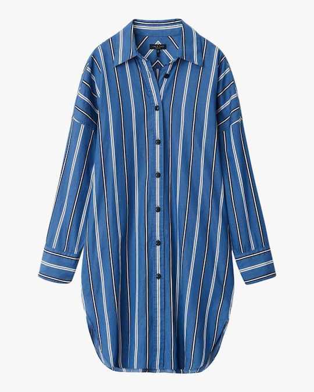 rag & bone Sandra Striped Shirt Dress 0