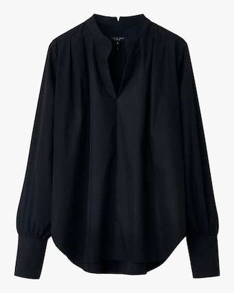 rag & bone Carly Poplin Top 1