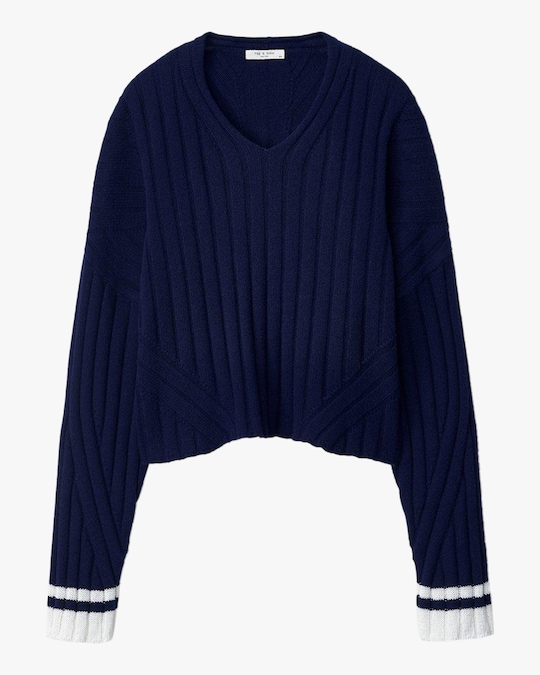 rag & bone Serena V Neck Top 0