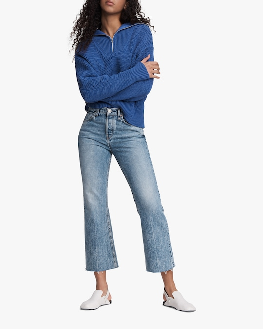 rag & bone Maya High-Rise Cropped Flare Jeans 1