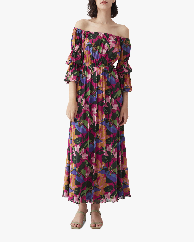 Diane von Furstenberg Cheryl Off-Shoulder Dress 0