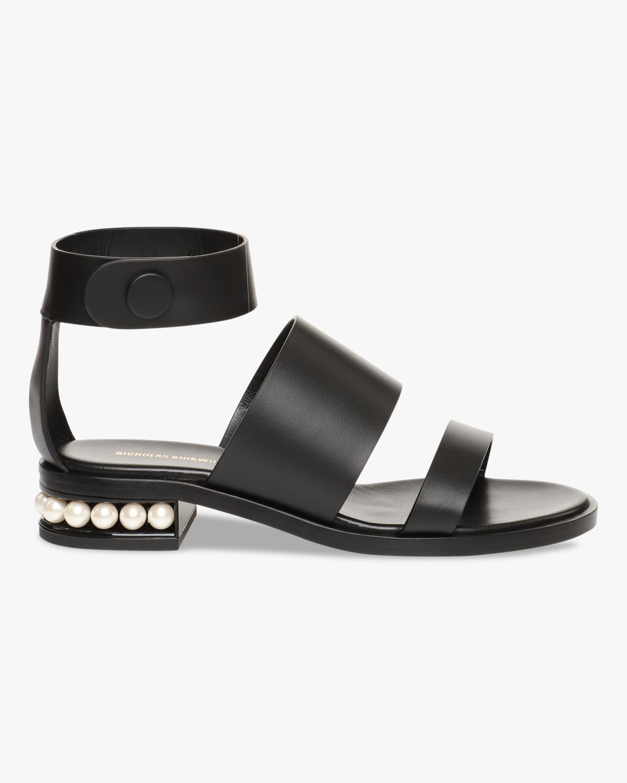 Nicholas Kirkwood Black Casati Triple-Strap Sandal 1