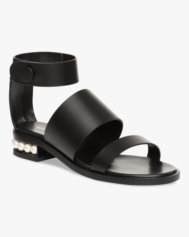 Nicholas Kirkwood Black Casati Triple-Strap Sandal 2