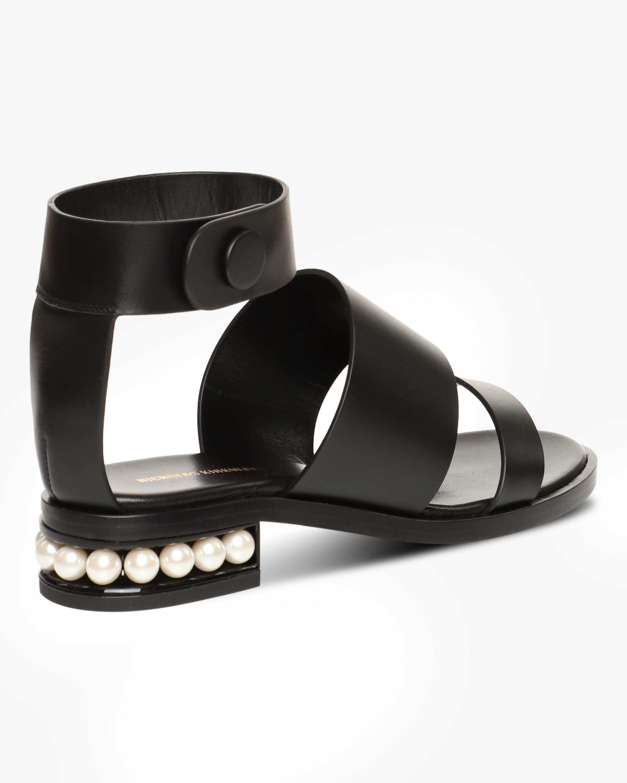 Nicholas Kirkwood Black Casati Triple-Strap Sandal 3