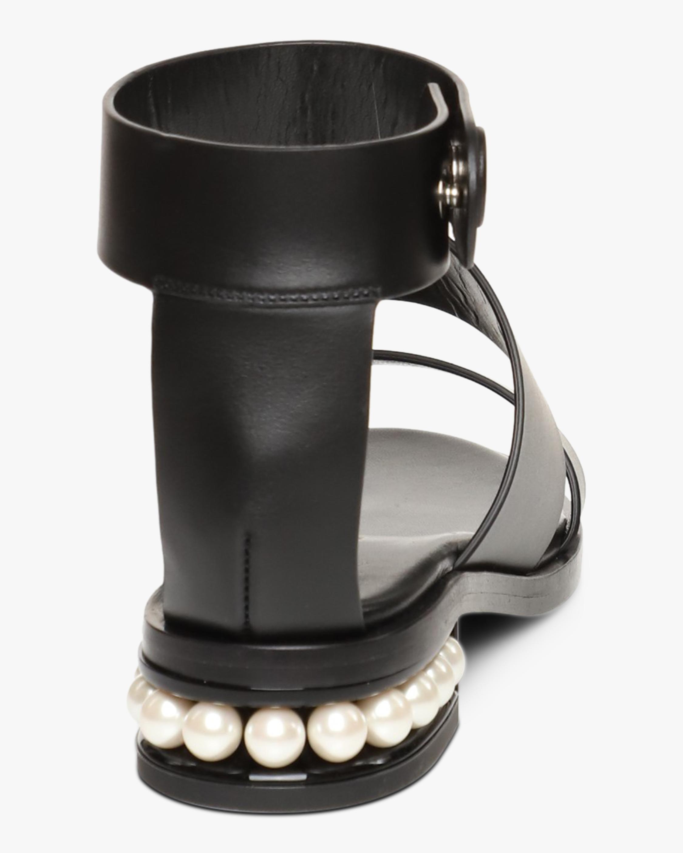 Nicholas Kirkwood Black Casati Triple-Strap Sandal 5