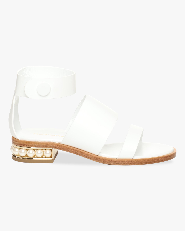 Nicholas Kirkwood White Casati Triple-Strap Sandal 1