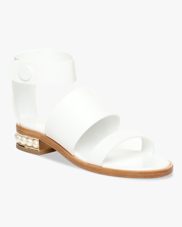 Nicholas Kirkwood White Casati Triple-Strap Sandal 2