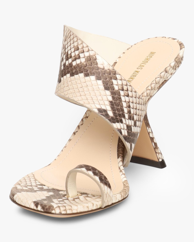 Nicholas Kirkwood Snake-Print Brasilia Mule Sandal 2