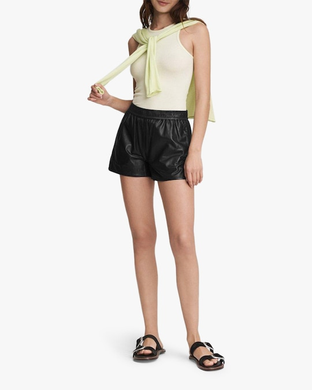 rag & bone Brit Leather Shorts 1