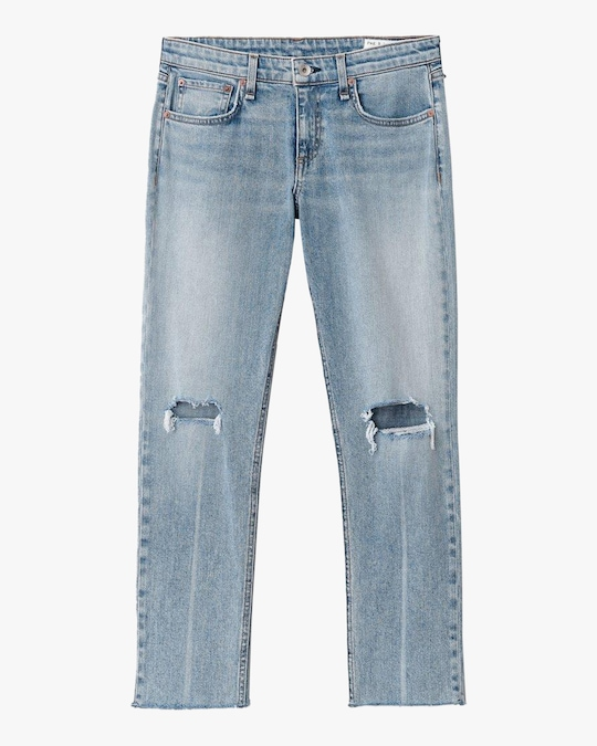 rag & bone Dre Low-Rise Slim Boyfriend Jeans 0