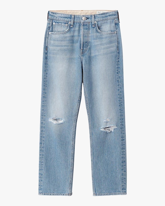 rag & bone Maya High-Rise Slim Ankle Jeans 0