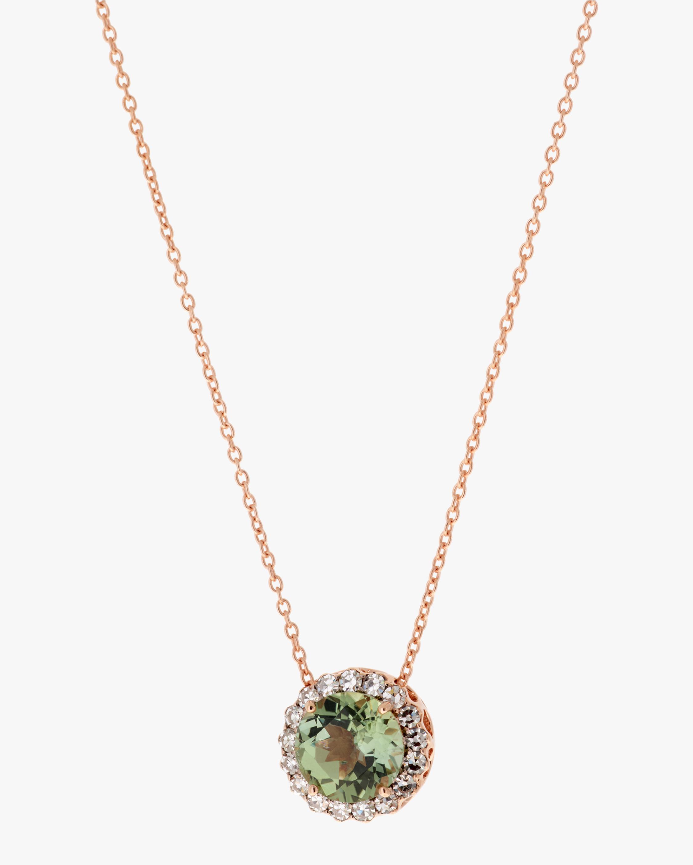 Selim Mouzannar Diamond & Tourmaline Pendant Necklace 0