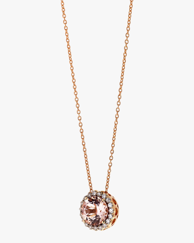 Selim Mouzannar Diamond & Morganite Pendant Necklace 1