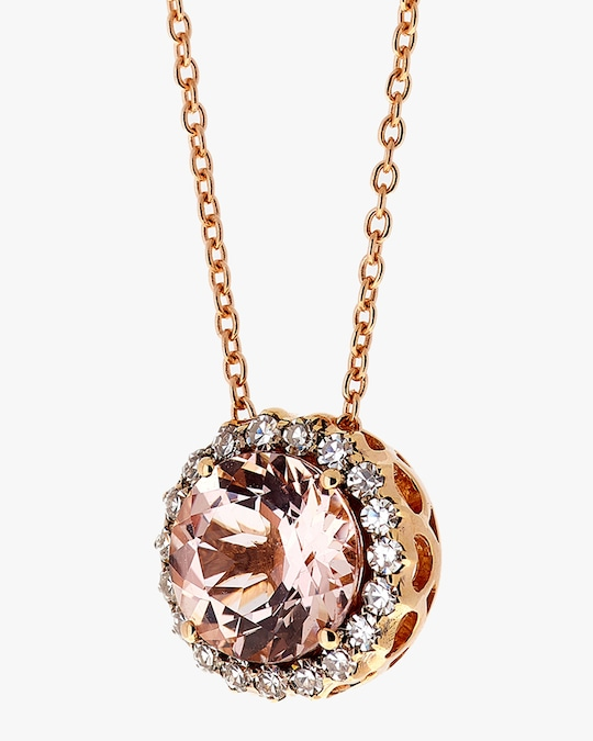 Selim Mouzannar Diamond & Morganite Pendant Necklace 1