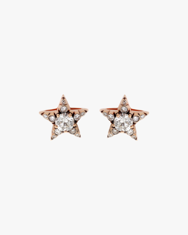 Selim Mouzannar Diamond Star Stud Earrings 1