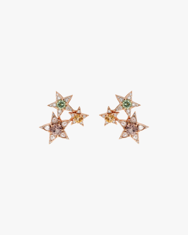 Selim Mouzannar Diamond & Tourmaline Star Cluster Earrings 0