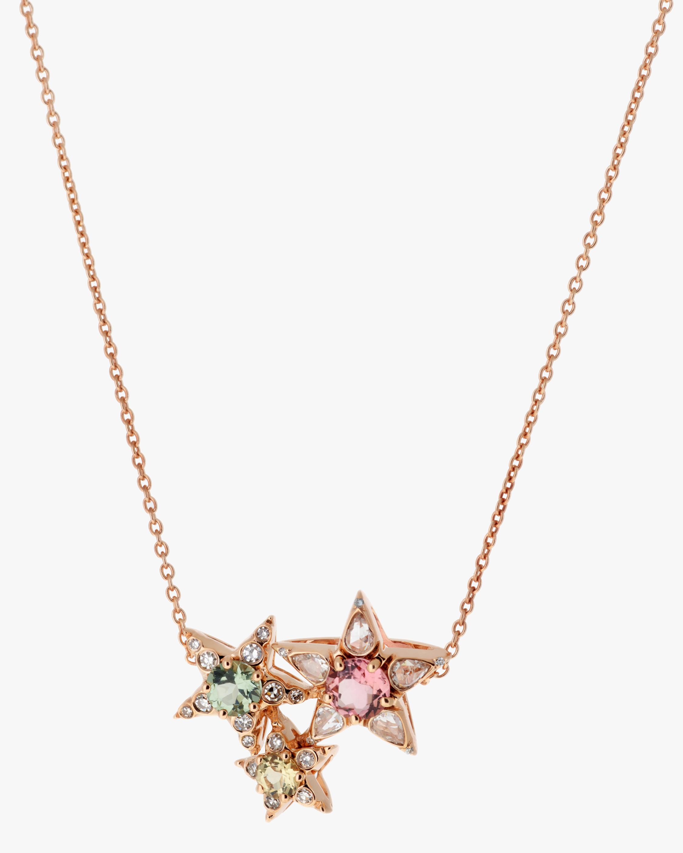 Selim Mouzannar Diamond & Tourmaline Star Cluster Pendant Necklace 0