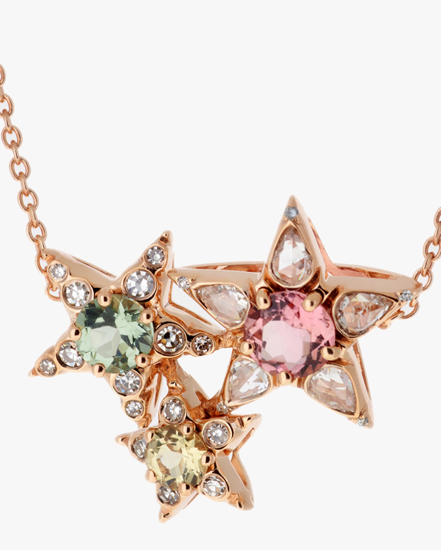 Selim Mouzannar Diamond & Tourmaline Star Cluster Pendant Necklace 1