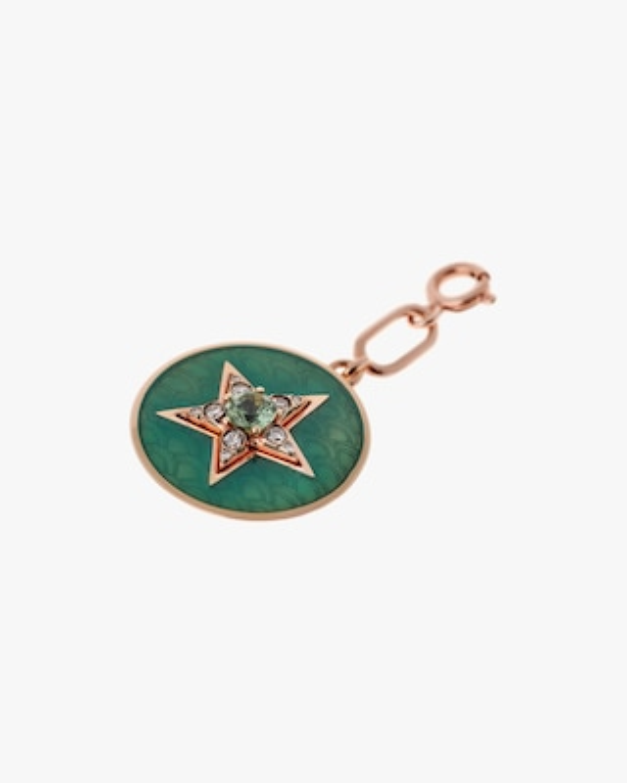 Selim Mouzannar Aqua Enamel, Diamond & Tourmaline Star Pendant 1