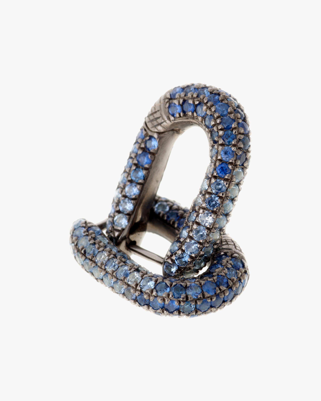 Selim Mouzannar Blue Sapphire Huggie Earrings 0