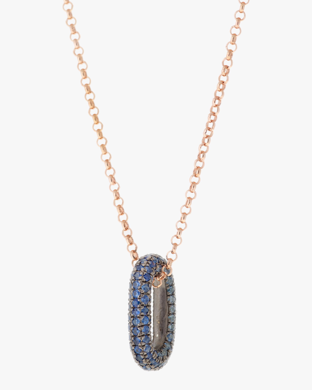 Selim Mouzannar Blue Sapphire Pendant Necklace 1