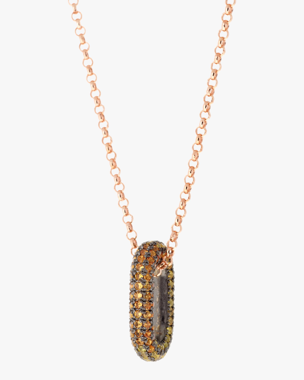 Selim Mouzannar Orange Sapphire Pendant Necklace 1