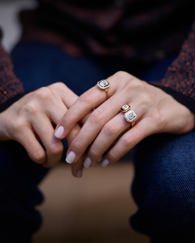 Selim Mouzannar Ivory Enamel & Diamonds Ring 1