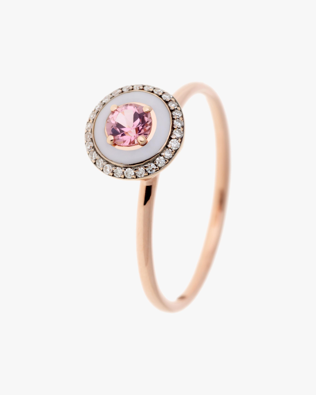 Selim Mouzannar Lilac Enamel, Diamond & Tourmaline Ring 0