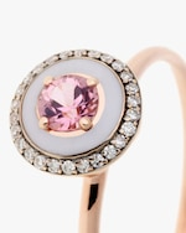 Selim Mouzannar Lilac Enamel, Diamond & Tourmaline Ring 3