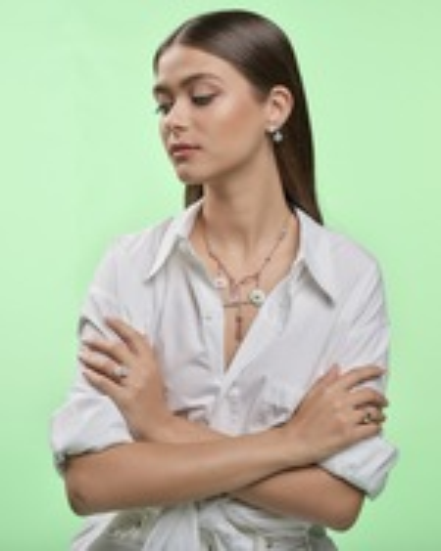 Selim Mouzannar Lilac Enamel & Diamond Stud Earrings 1