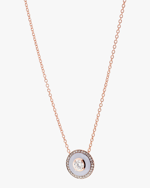 Selim Mouzannar Lilac Enamel & Diamond Pendant Necklace 1