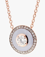 Selim Mouzannar Lilac Enamel & Diamond Pendant Necklace 2