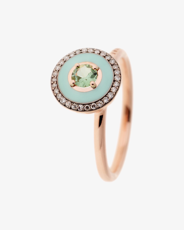 Selim Mouzannar Mint Green Enamel, Diamond & Tourmaline Ring 1