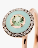 Selim Mouzannar Mint Green Enamel, Diamond & Tourmaline Ring 3