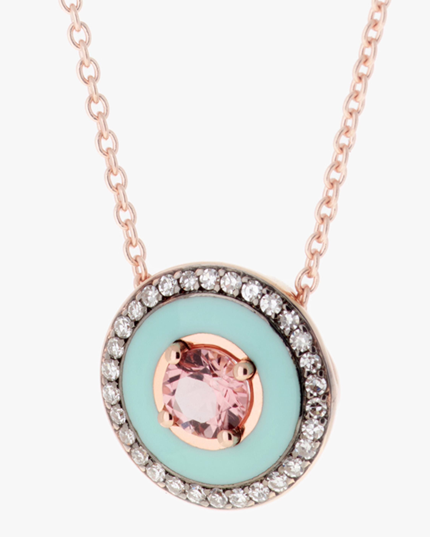 Selim Mouzannar Mint Green Enamel, Diamond & Tourmaline Pendant Necklace 2