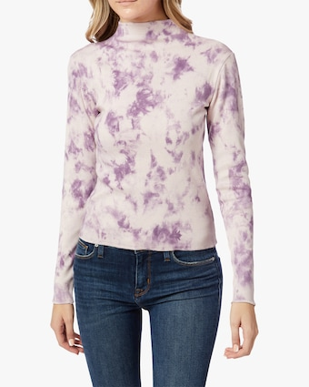 Hudson Mock-Neck Long-Sleeve Top 1