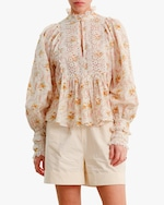 byTimo A-Line Puffed-Sleeve Blouse 0