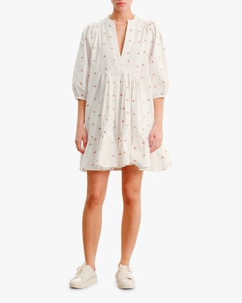 byTimo Embroidered V-Neck Mini Dress 1