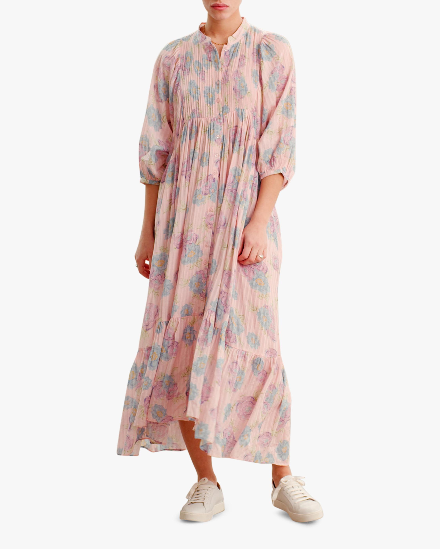 byTimo Striped Puffed-Sleeve Midi Dress 1