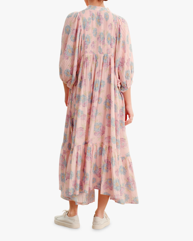 byTimo Striped Puffed-Sleeve Midi Dress 2