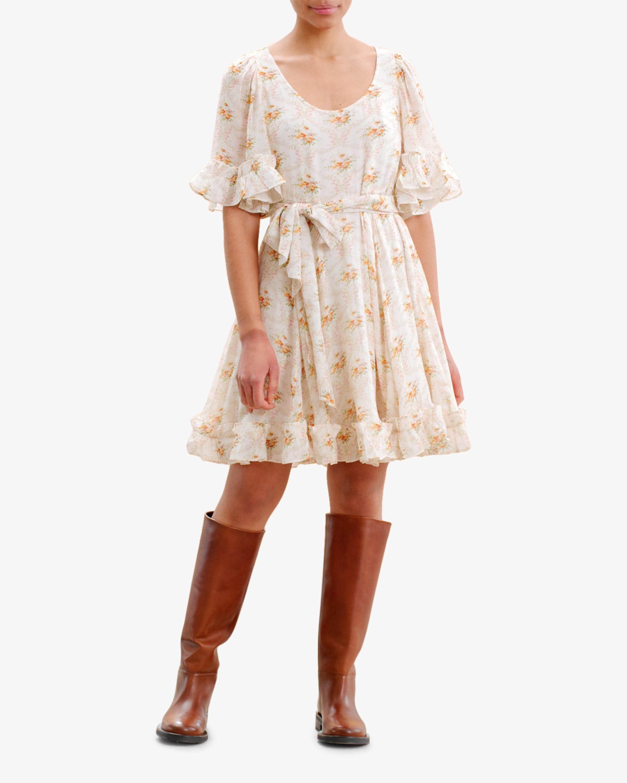 byTimo Ruffled Flare-Sleeve Mini Dress 0