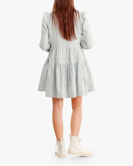 byTimo Embroidered Linen Mini Dress 1