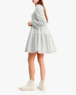 byTimo Embroidered Linen Mini Dress 2