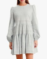 byTimo Embroidered Linen Mini Dress 3