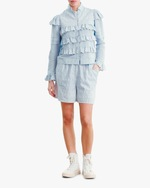 byTimo Embroidered Linen Shorts 0